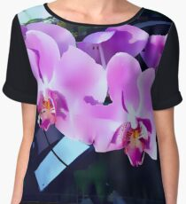 Gorgeous Orchids Chiffon Top