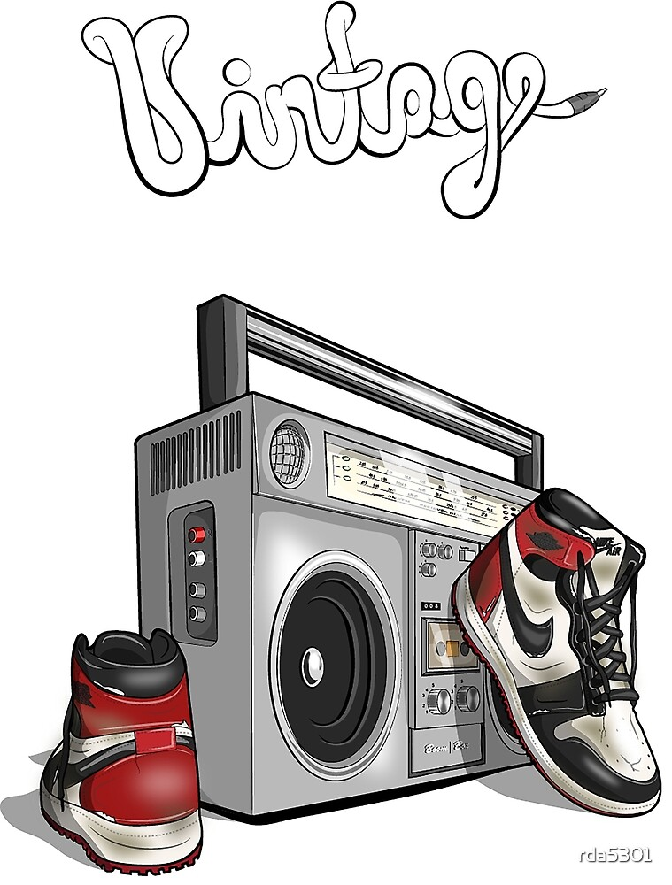 Vintage Hip-hop Basketball Graphic by rda5301