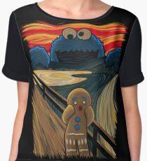 Cookie Monster Scream Chiffon Top