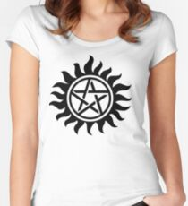 Supernatural Anti-Posession Symbol Women's Fitted Scoop T-Shirt