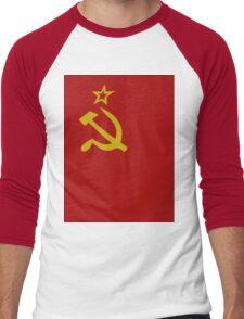 Soviet flag Men's Baseball ¾ T-Shirt