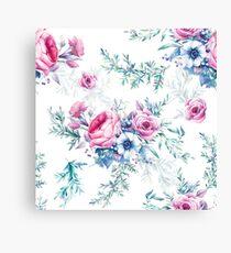 Watercolor vintage floral seamless pattern Canvas Print