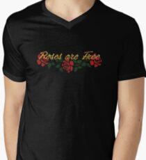Roses are Free Men's V-Neck T-Shirt