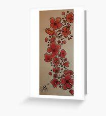 Cherry Blossom Fall Greeting Card