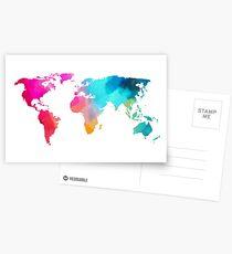 world map colorffull Postcards
