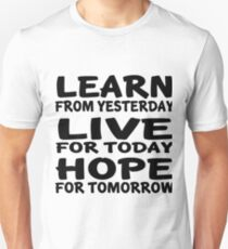 Learn Live Hope T-Shirt
