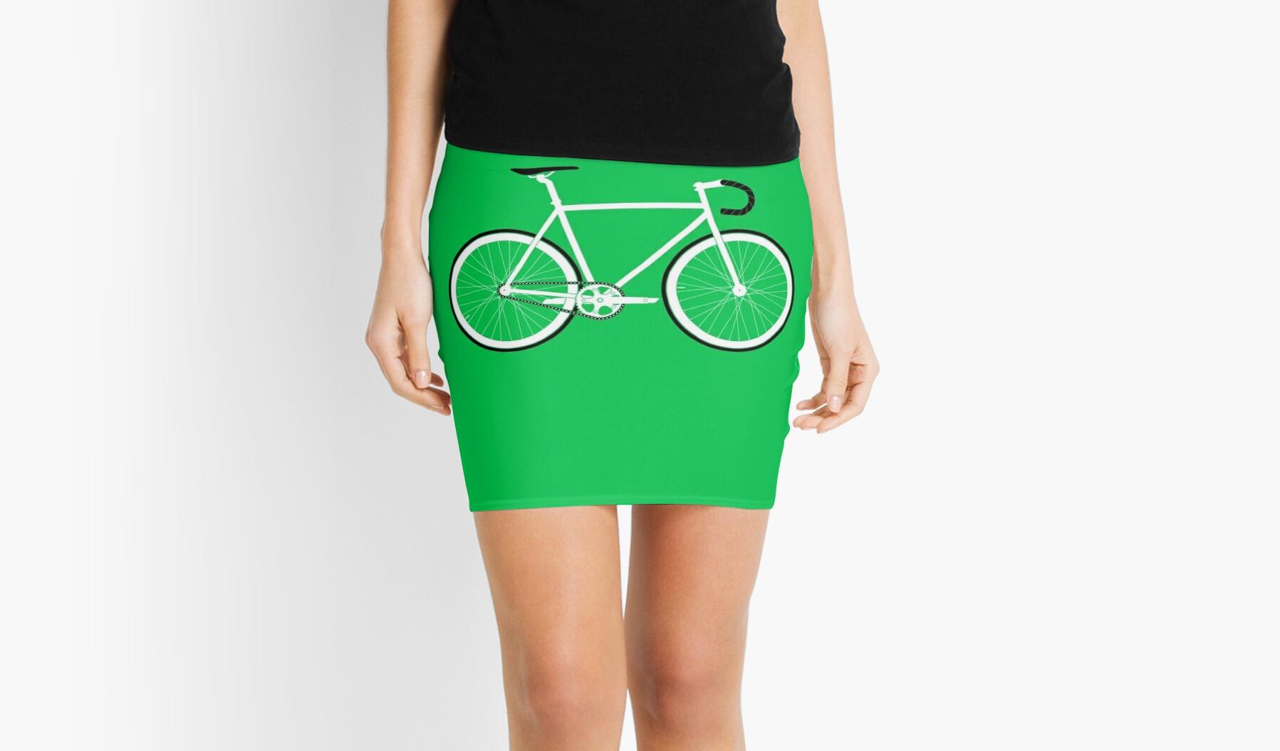 Green Fixed Gear Road Bike by Ark Studio