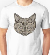 Tribal Cat Portrait T-Shirt