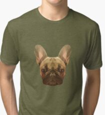 French bulldog. Tri-blend T-Shirt