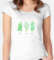 Plants with Japanese Labels Women's Fitted Scoop T-Shirt
