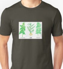 Plants with Japanese Labels Unisex T-Shirt