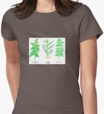 Plants with Japanese Labels Womens Fitted T-Shirt