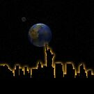 New York City Skyline Cityscape Universe by T-ShirtsGifts