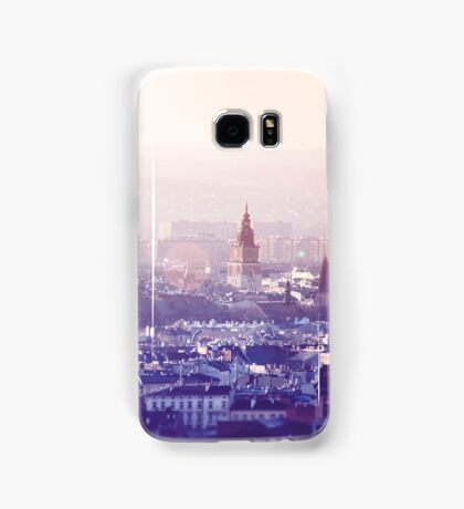 Panoramic view of Old City in Cracow at the sunset Samsung Galaxy Case/Skin