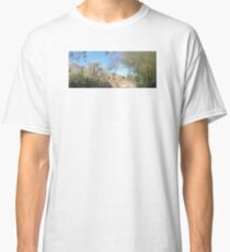 TRANQUIL SCENE TO SNOW CAP MOUNTAINS Classic T-Shirt