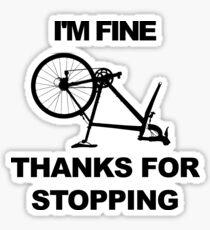 Bicycle Puncture Sarcasm Sticker