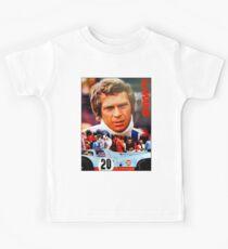LE MANS; Vintage Grand Prix Auto Print Kids Tee