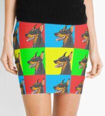 Pop Art Doberman Mini Skirt