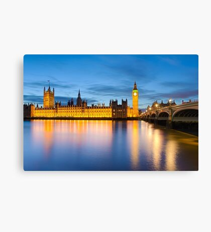 Big Ben and the Palace of Westminster, London Canvas Print