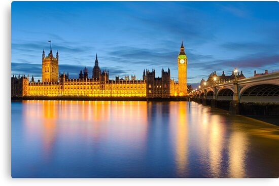 Big Ben and the Palace of Westminster, London by Michael Abid