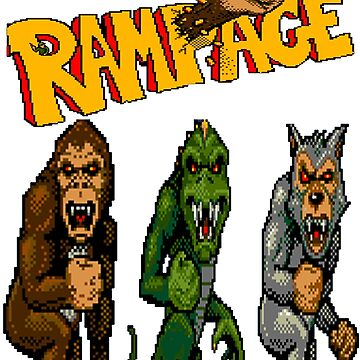 Rampage George, Lizzie and Ralph by garyspeer