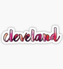 Cleveland (pink) Sticker