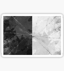 Black and white abstract, nature pattern. Leaf background. Maple leaves Sticker