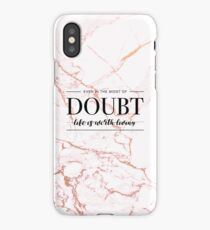 Life Is Worth Living - Rose Gold Marble iPhone Case