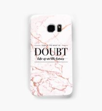 Life Is Worth Living - Rose Gold Marble Samsung Galaxy Case/Skin