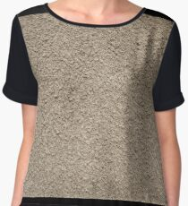 Granular surface of the cement beige Women's Chiffon Top
