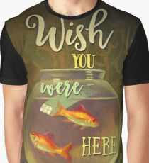 Wish You Were Here Pink Floyd Epic Rock And Roll Lyrics Inspired Retro Design Graphic T-Shirt