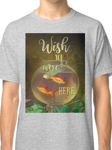 Wish You Were Here Pink Floyd Epic Rock And Roll Lyrics Inspired Retro Design Classic T-Shirt