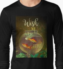 Wish You Were Here Pink Floyd Epic Rock And Roll Lyrics Inspired Retro Design Long Sleeve T-Shirt