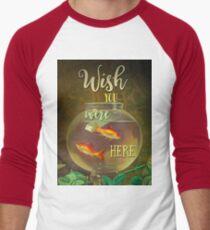 Wish You Were Here Pink Floyd Epic Rock And Roll Lyrics Inspired Retro Design Men's Baseball ¾ T-Shirt