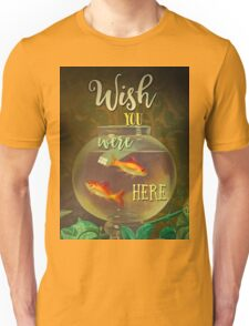 Wish You Were Here Pink Floyd Epic Rock And Roll Lyrics Inspired Retro Design Unisex T-Shirt