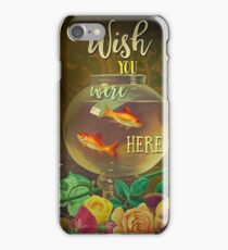 Wish You Were Here Pink Floyd Epic Rock And Roll Lyrics Inspired Retro Design iPhone Case/Skin