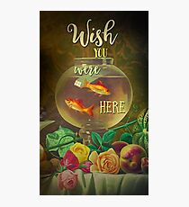 Wish You Were Here Pink Floyd Epic Rock And Roll Lyrics Inspired Retro Design Photographic Print