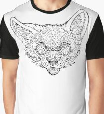 Psychedelic Coyote Graphic T-Shirt