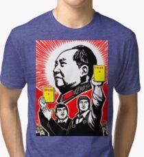 CHAIRMAN MAO 4 Tri-blend T-Shirt