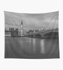 London at Night Wall Tapestry