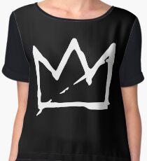 White Basquiat crown Chiffon Top