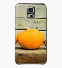 Pumpkins on a wooden background Case/Skin for Samsung Galaxy