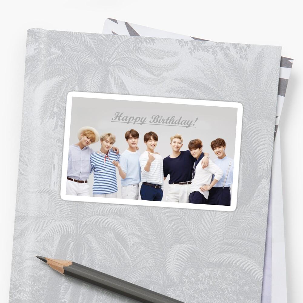 """""""""""Happy Birthday"""" - BTS """" Sticker By Sebbytogray"""