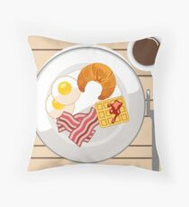 It's breakfast time  Throw Pillow