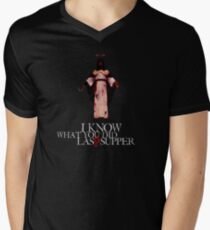 I Know What You Did Last Supper Men's V-Neck T-Shirt