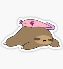 Axolotl and Sloth Sticker