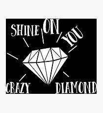 Pink Floyd - Shine On You Crazy Diamond - Music Inspired  Photographic Print