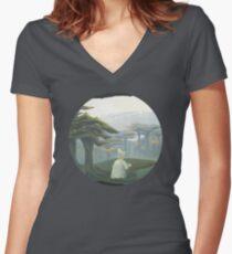Feeding the Birds Women's Fitted V-Neck T-Shirt