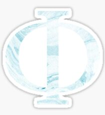 Phi-blue marble Sticker