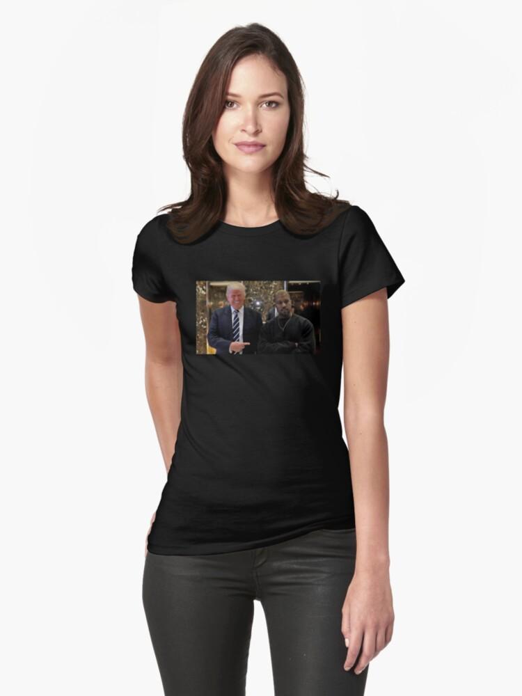 Trump & Kanye Womens T-Shirt Front